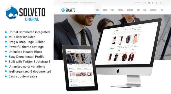 Solveto - Responsive Multipurpose Drupal Theme Download