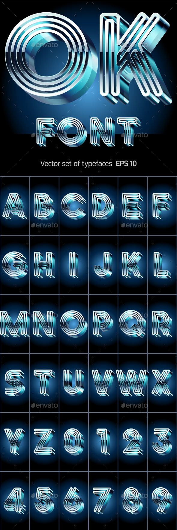GraphicRiver 3D Alphabet from Metal Letters 10309689