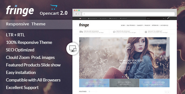 Fringe - Opencart Responsive Theme - Shopping OpenCart
