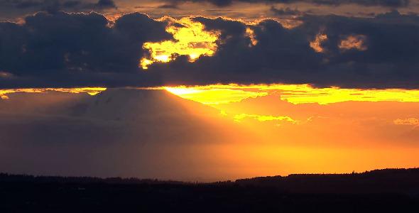 Alaskan Sunset Aerial