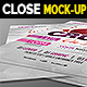 Closeup Perspective Flyer Mockups - GraphicRiver Item for Sale