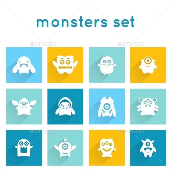 GraphicRiver Monster Icons Set 10310072