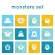 Monster Icons Set - GraphicRiver Item for Sale