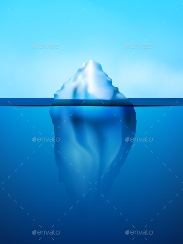 GraphicRiver Iceberg Background Illustration 10310085