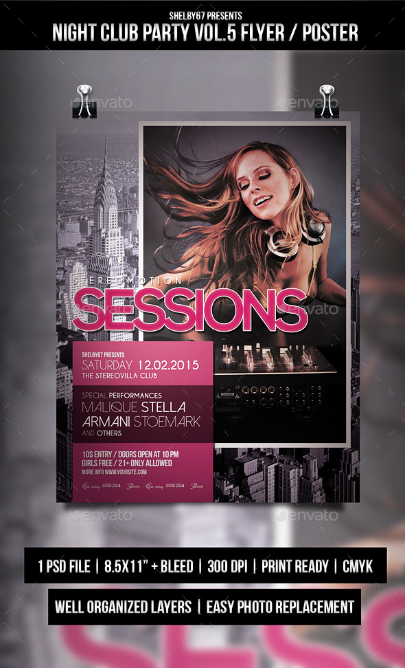 GraphicRiver Night Club Party Flyer Poster Vol.5 10310096