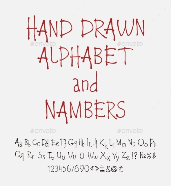 GraphicRiver Set of Calligraphic Acrylic or Ink Alphabet 10310116