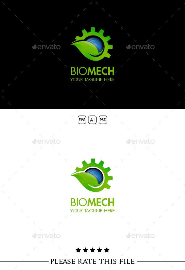 GraphicRiver Leaf Gear Logo 10310182
