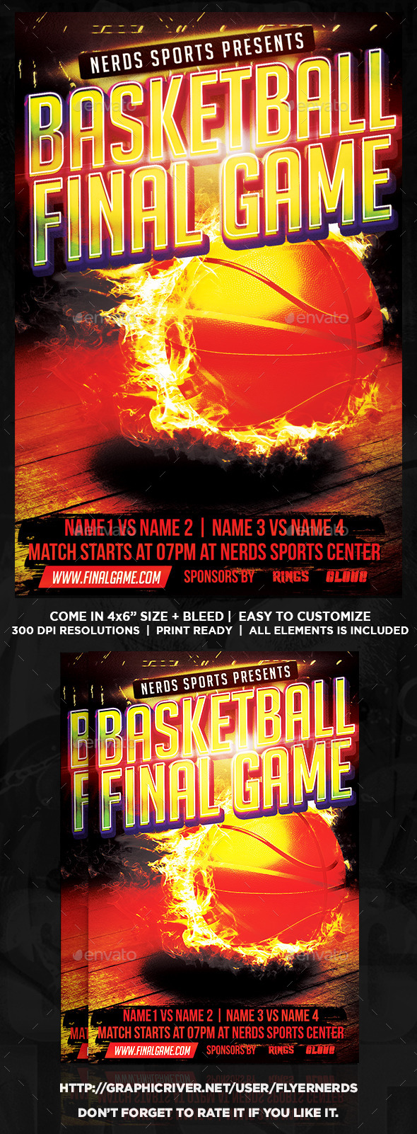 Basketball Finals Game Sports Flyer