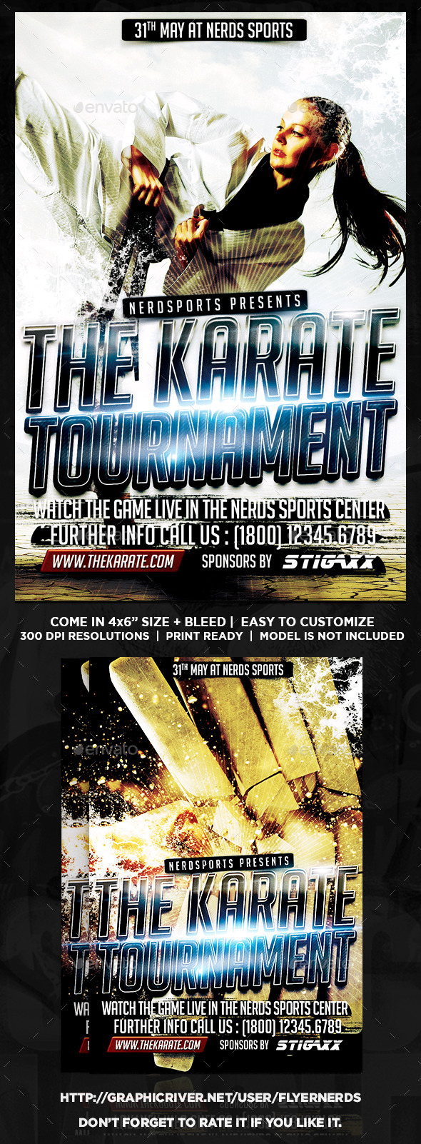 GraphicRiver Karate Tournament Sports Flyer 10310308