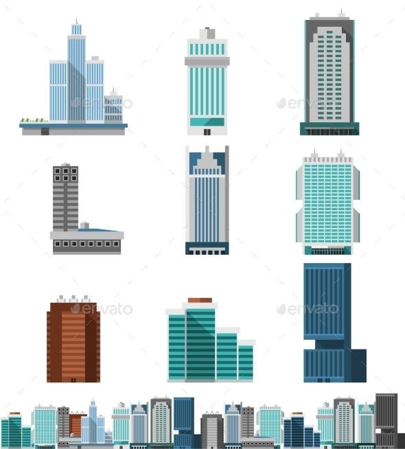 GraphicRiver Skyscraper Offices Set 10310317