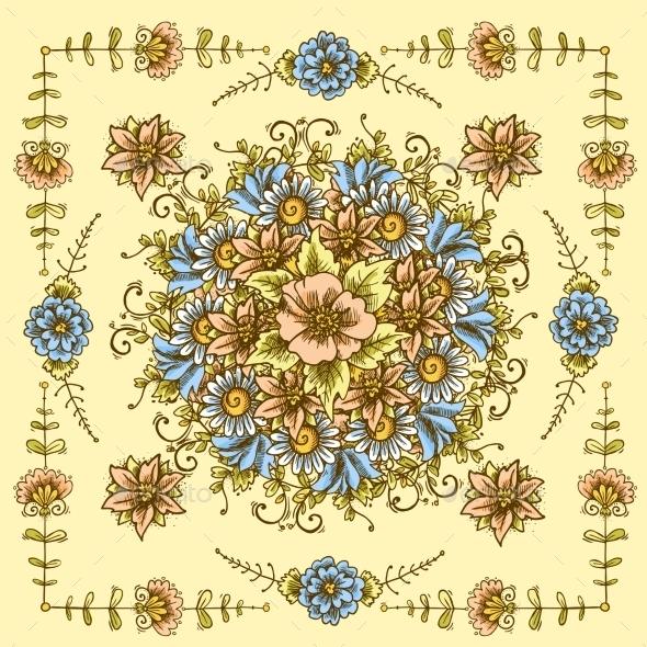 GraphicRiver Vintage Floral Pattern 10310336