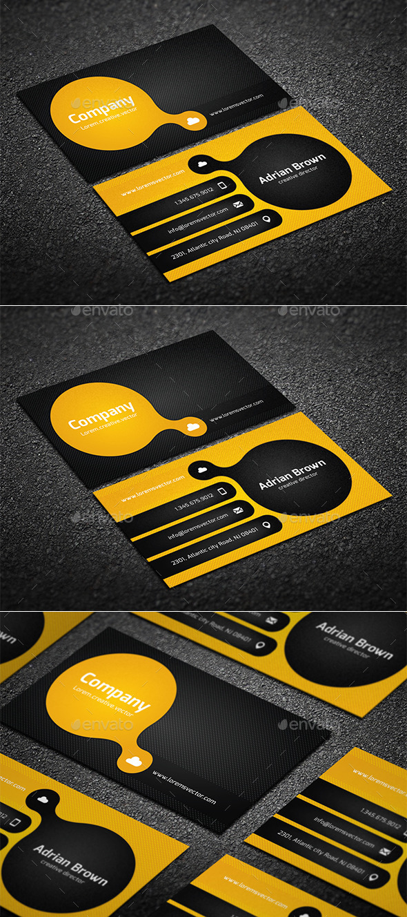 GraphicRiver Orange Business Card 10310368