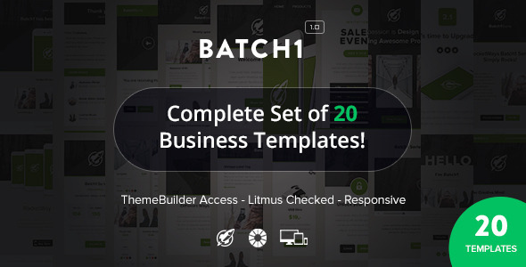 ThemeForest Batch1 Complete Set of 20 Business Email Templates 9718951