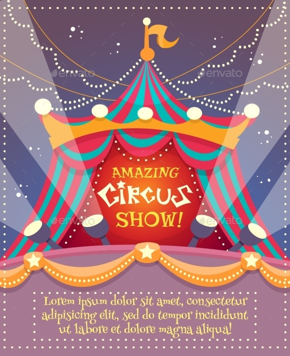 GraphicRiver Circus Vintage Poster 10310373