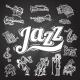 Jazz Chalkboard Set - GraphicRiver Item for Sale