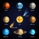 Realistic Planets Set - GraphicRiver Item for Sale