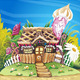 Fantasy Marzipan Sweets House Background - GraphicRiver Item for Sale