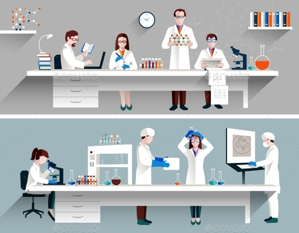 GraphicRiver Scientists in Lab Concept 10310468