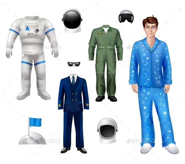 GraphicRiver Astronaut Boy Set 10310472