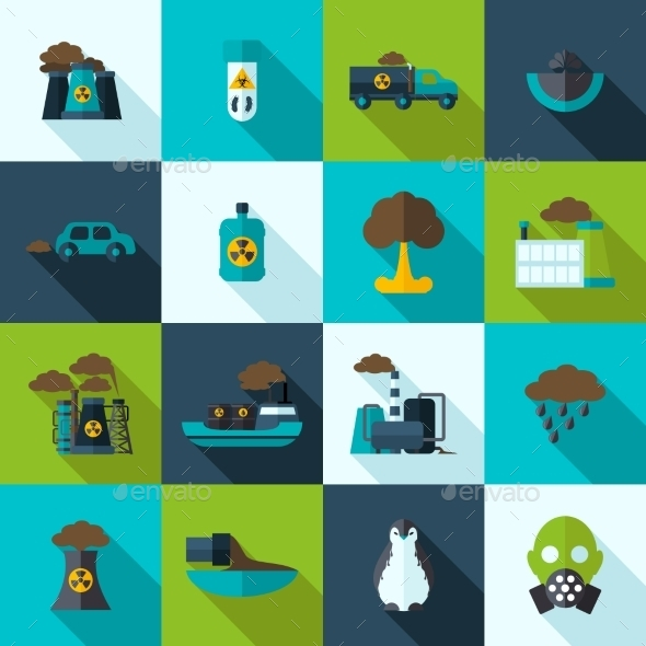 GraphicRiver Pollution Icons Set 10310495