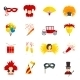Carnival Icons Set Flat - GraphicRiver Item for Sale