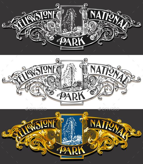 GraphicRiver Vintage Yellow Stone Label Plaque 10310653