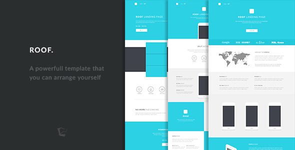 ThemeForest Roof Responsive Landing Pages Template 10310687