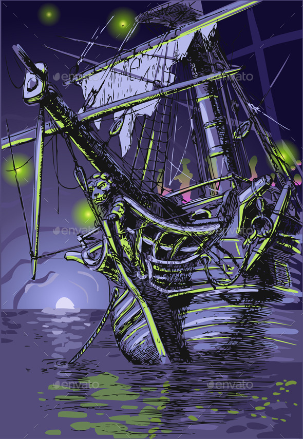 GraphicRiver Adventure Island the Ghost Ship 10310717