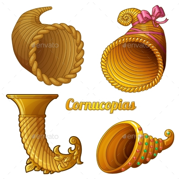GraphicRiver Set of Empty Cornucopias 10310925