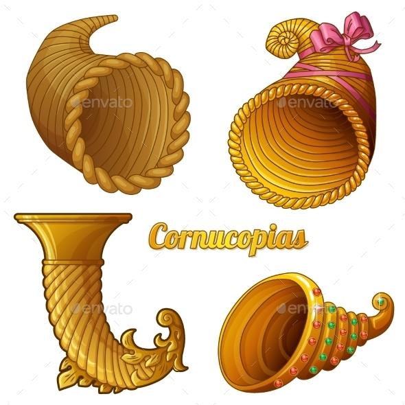 GraphicRiver Set of Empty Cornucopias 10310925