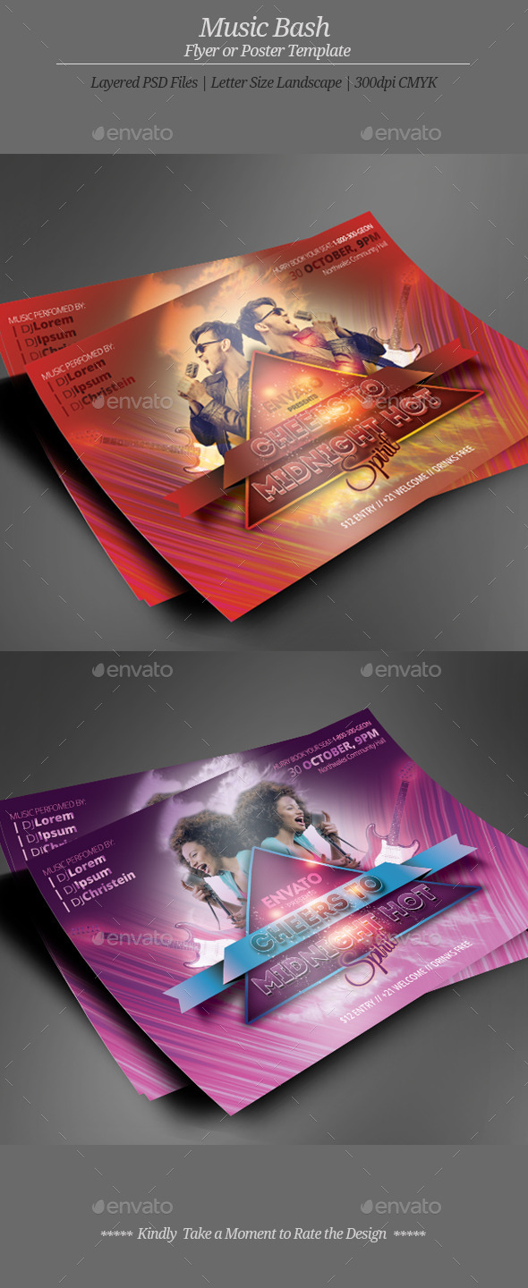 GraphicRiver Music Bash Flyer or Poster 10310928