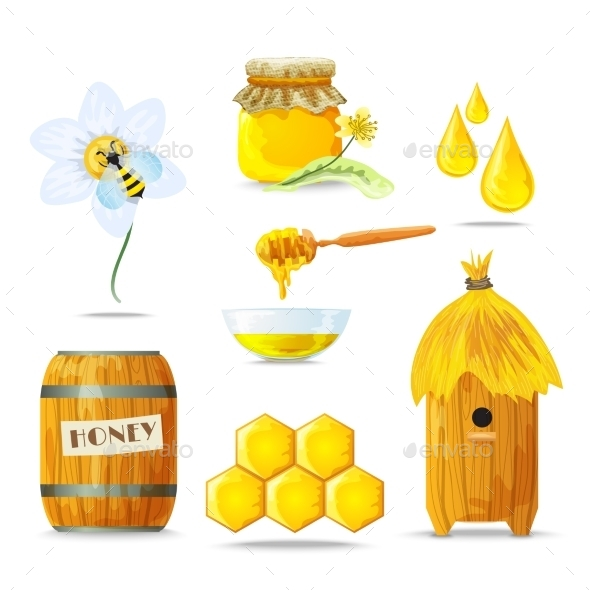 GraphicRiver Honey Icons Set 10311119