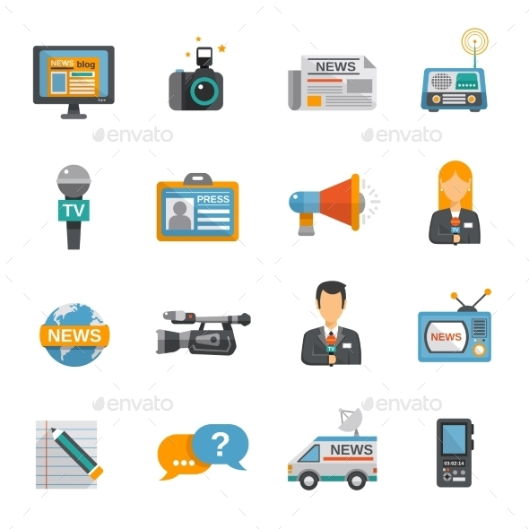 GraphicRiver Journalist Icon Flat 10311149