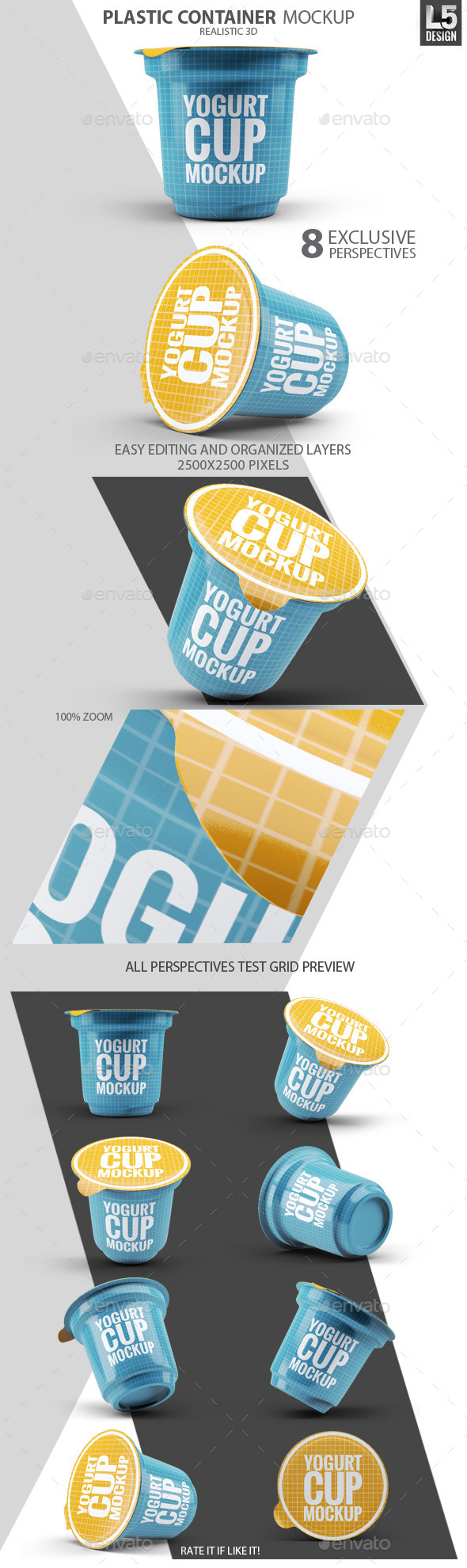 GraphicRiver Plastic Container for Dairy Mock-Up 10311165