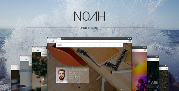 ThemeForest NOAH PSD Theme 9375497