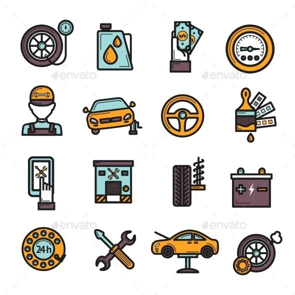 GraphicRiver Auto Service Icon Set 10311174