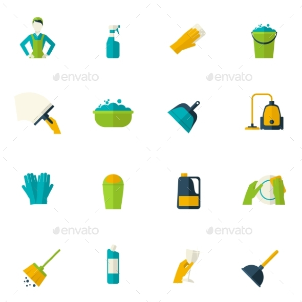 GraphicRiver Cleaning Icon Flat 10311232