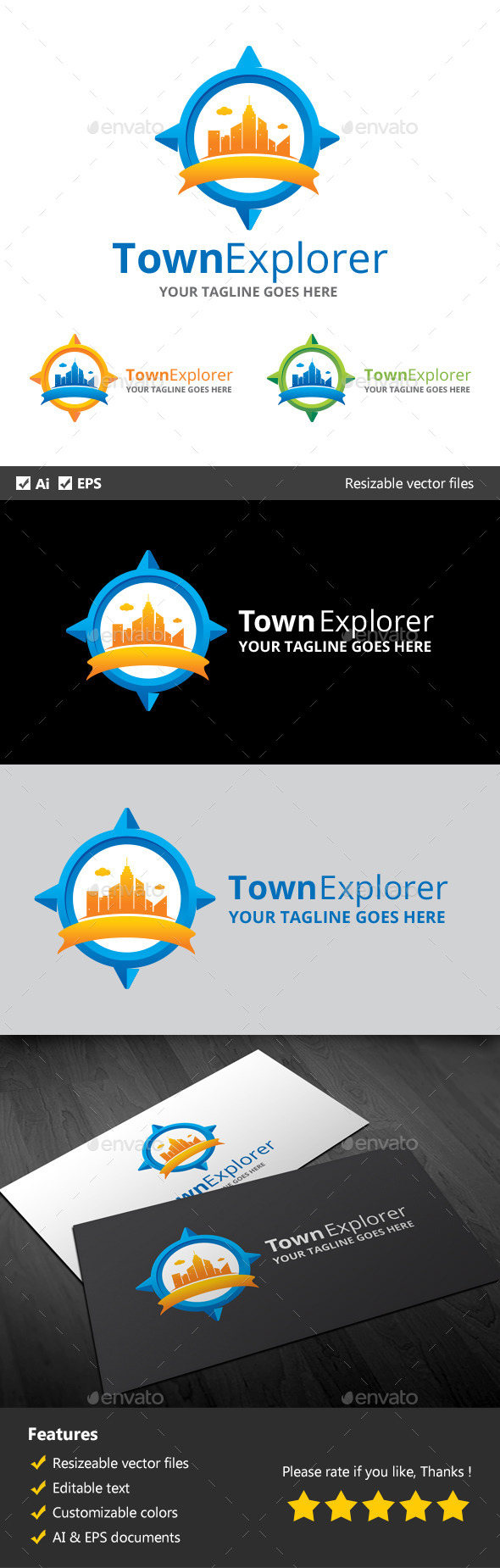 GraphicRiver Town Explorer 10311247