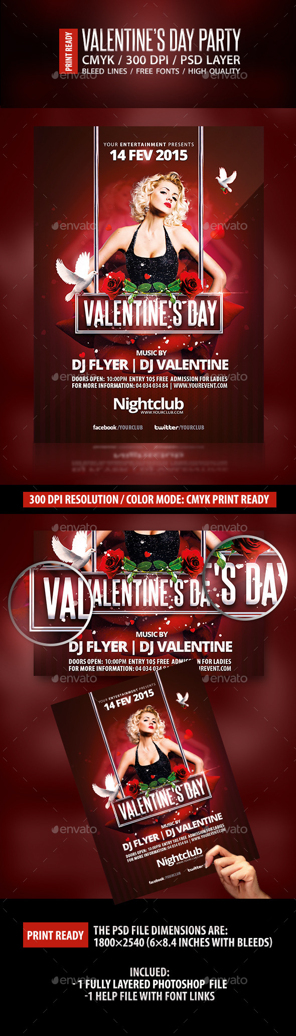 GraphicRiver Valentine's Day Party flyer template 10267909