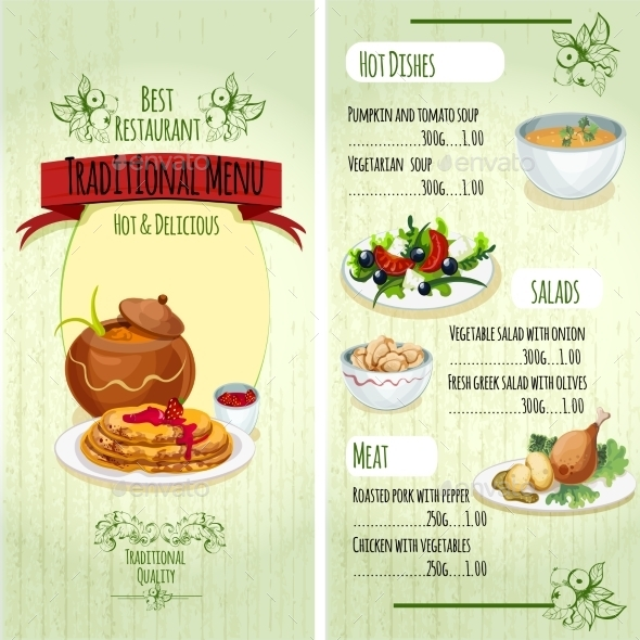 GraphicRiver Traditional Food Menu 10311513