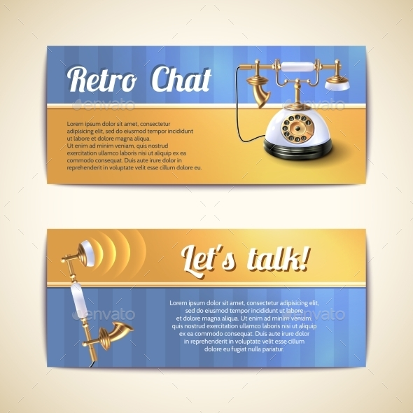GraphicRiver Antique Telephones Horizontal Banners 10311535