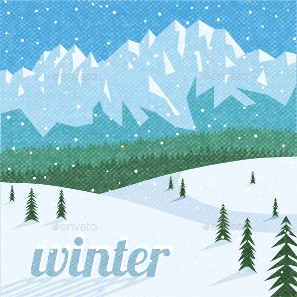 GraphicRiver Winter landscape tourism background 10311570