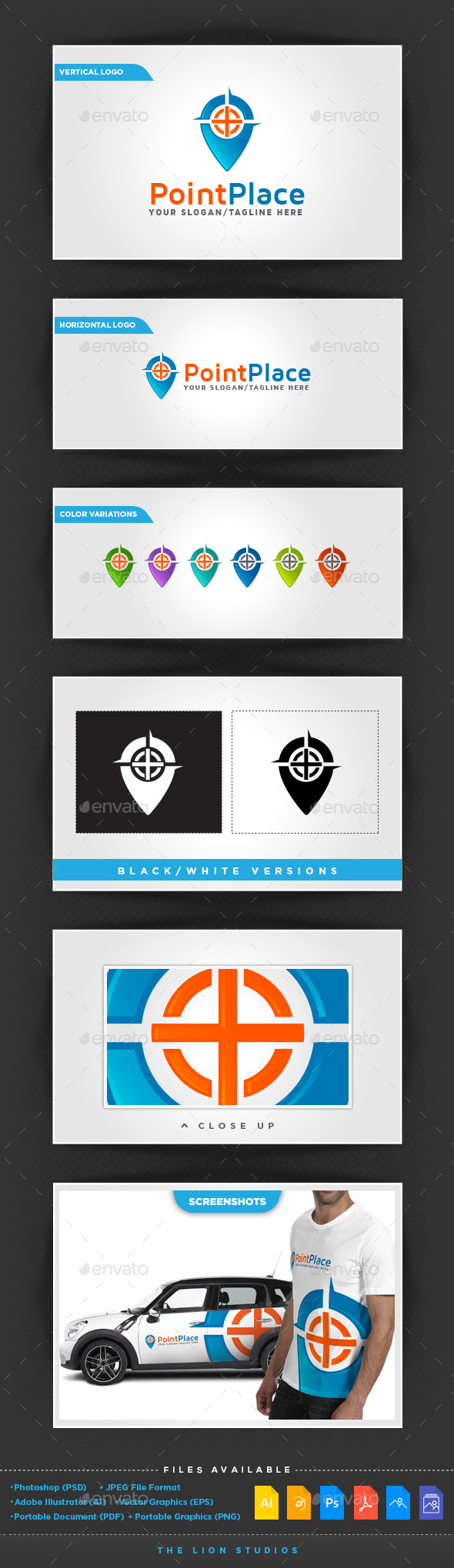 GraphicRiver Point Place Logo 10311588