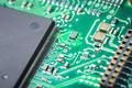 electronic board closeup