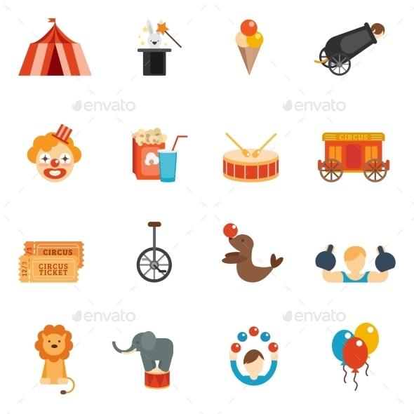 GraphicRiver Circus Icon Flat 10311759