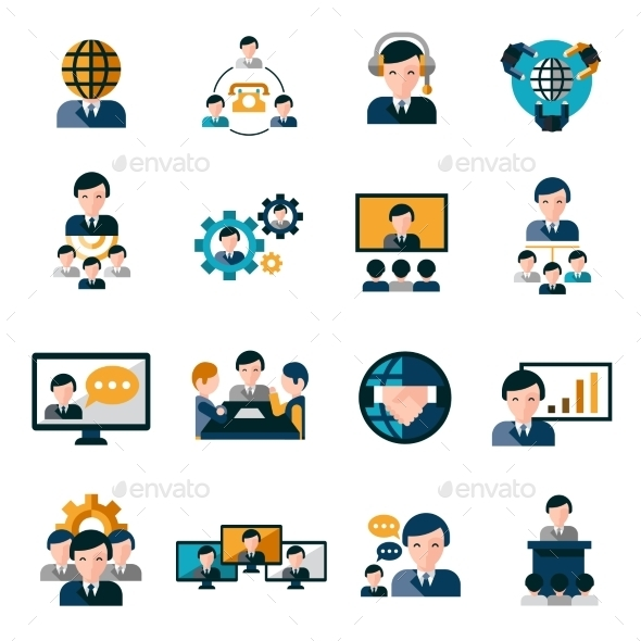 GraphicRiver Business Meeting Icons 10311763