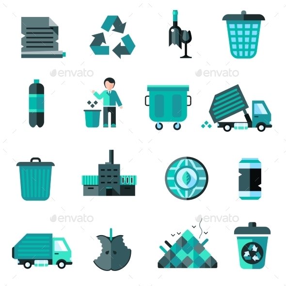 GraphicRiver Garbage Icons Set 10311768