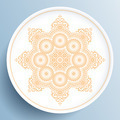 White plate with gold floral ornament - PhotoDune Item for Sale