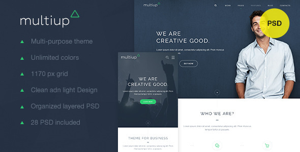 ThemeForest MultiUp Multi-purpose business theme 10311990