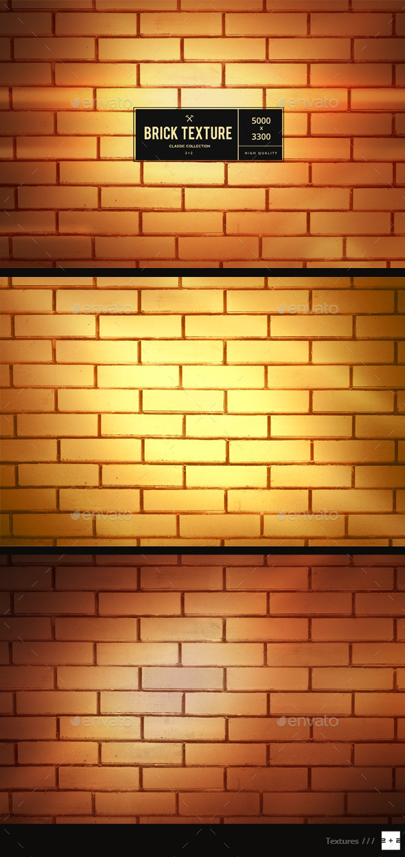 GraphicRiver 3 Golden Brick Walls 10312024
